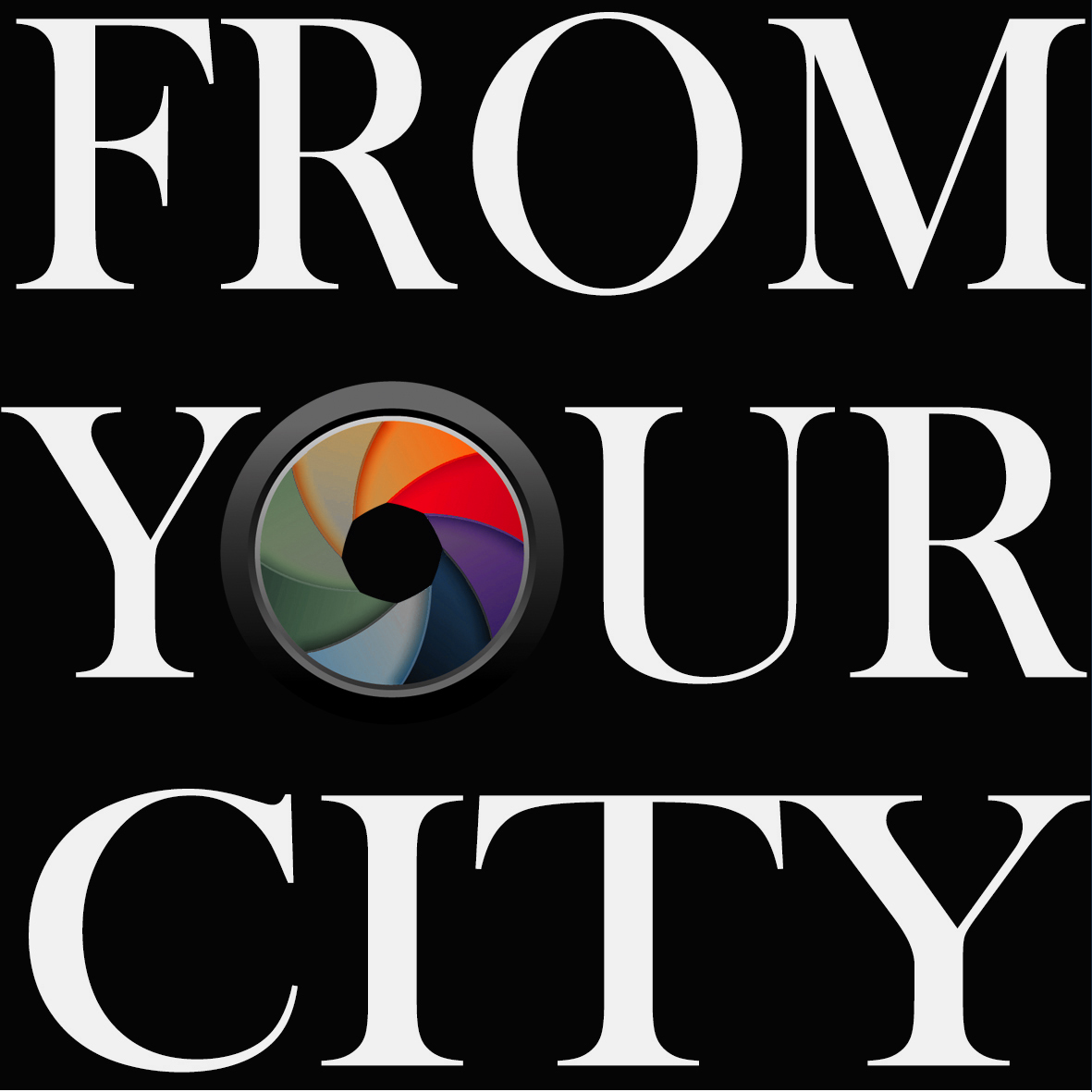 Logo From Your City Au Carré En Partie Desaturé
