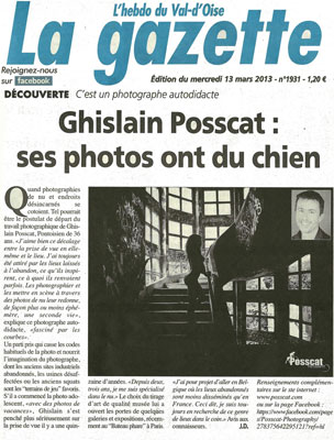 ghislain posscat publication la gazette