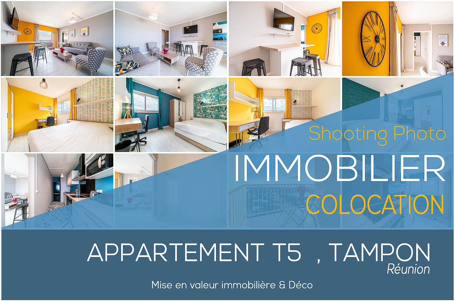 Shooting Photographe Immobilier Colocation T5 Tampon