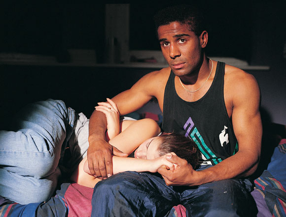Abe (Steve Ako) and Jess (Joeline Garner-Joel) after the miscarriage