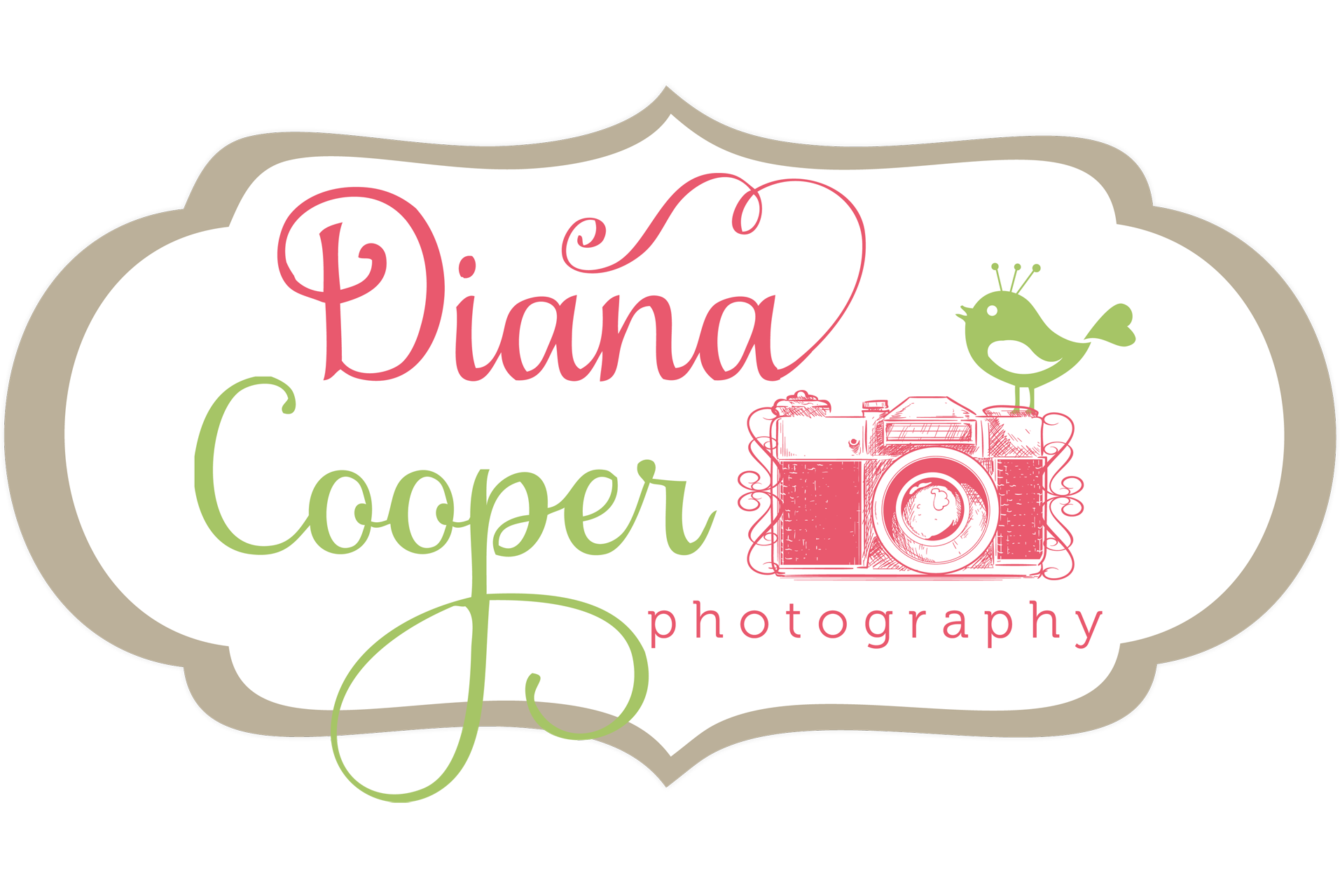 Photodeck Diana Cooper With Ornate Frame Logo Copy Copy