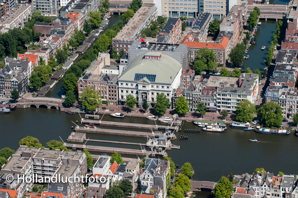 Luchtfoto Amsterdam Theater Carré