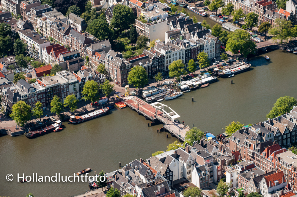 Luchtfoto Amsterdam De Magere Brug Amstel