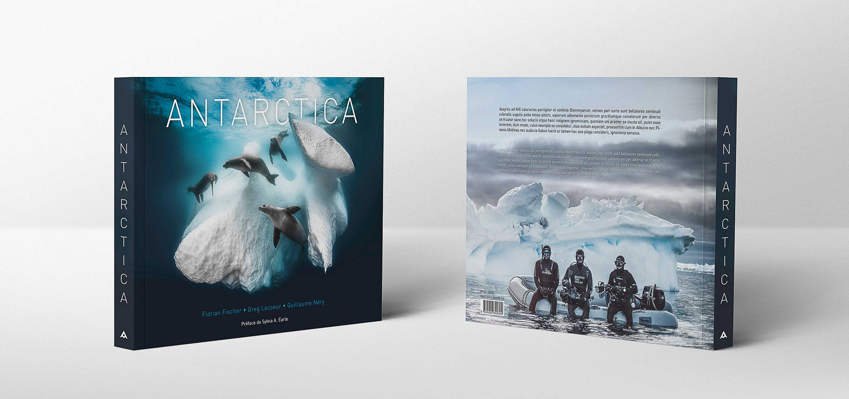 Antarctica Book Cover 3 D