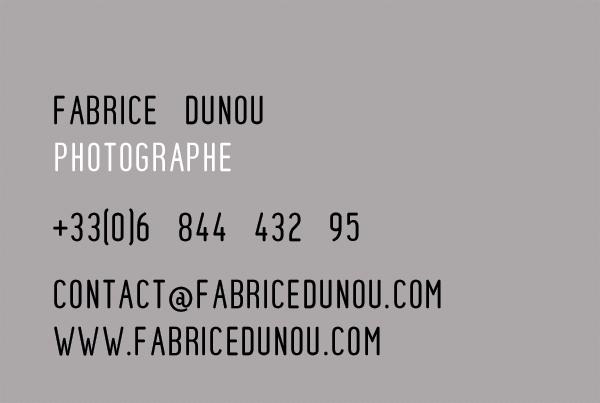 Carte de visite Fabrice Dunou photographe architecture