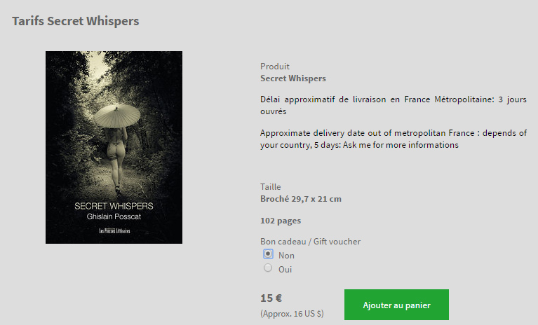 Buy the photo book of Ghislain Posscat